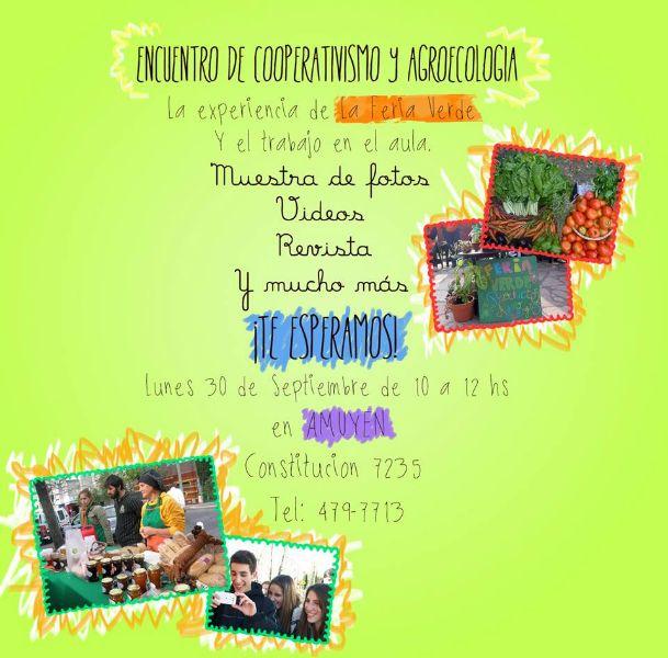 afiche encuentro cooperativo y agroecología